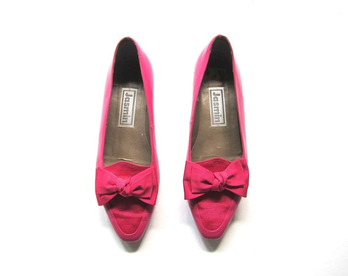Pink Leather Bow Shoes