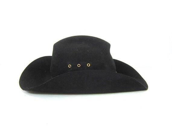 Black RESISTOL 4X Beaver Hat Self Conforming Made in Texas  0205d9e268