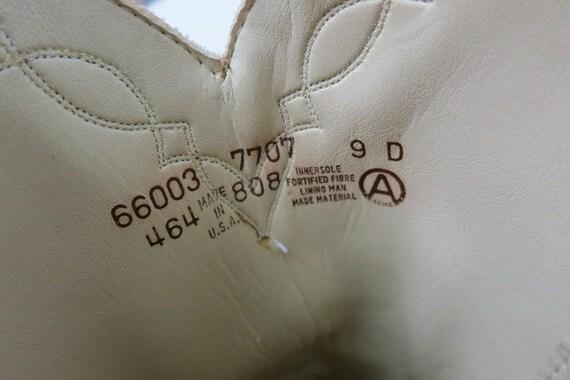 1980s Vintage Tan Leather Look Boots DINGO ACME C… - image 4