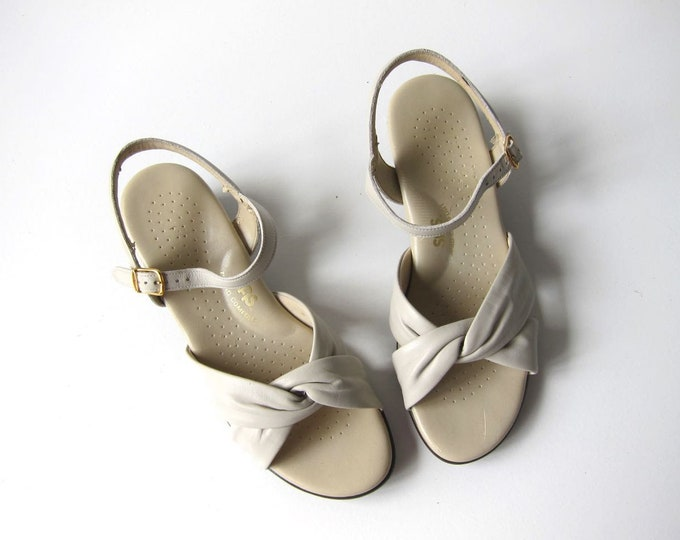Soft White Leather Sandals