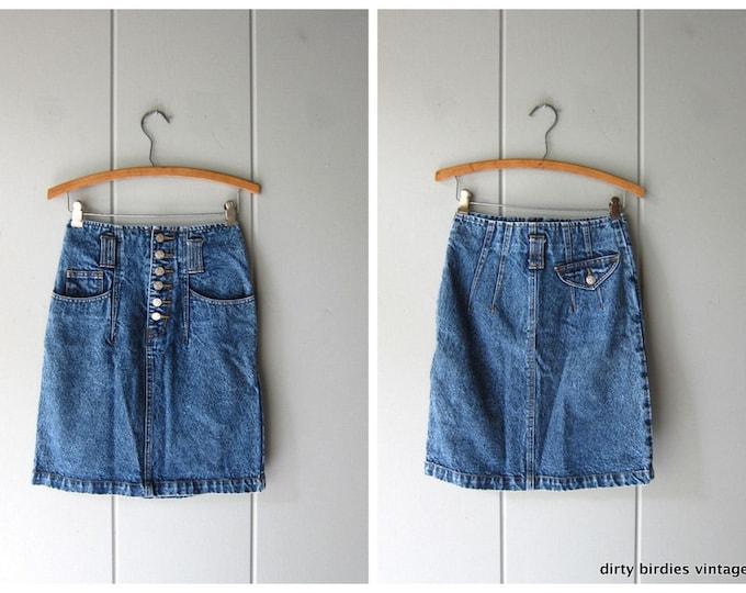 80s Jean Skirt