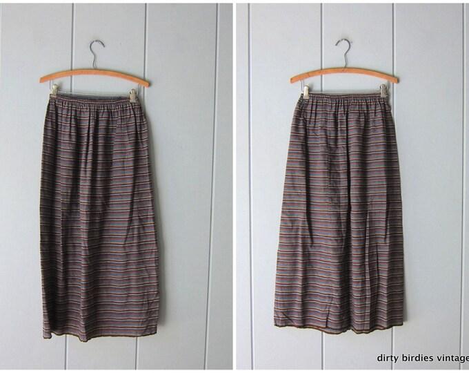 70s Striped Skirt