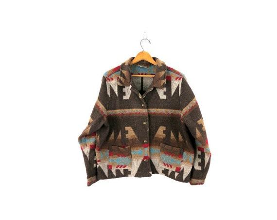 Vintage southwestern Coat South Western Cotton Cro