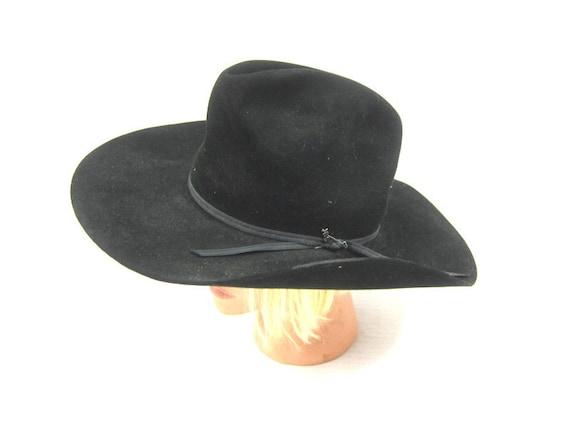 0c0cc85c6e8 Black Sheplers by Stetson Hat Fur Felt Western Hat Vintage