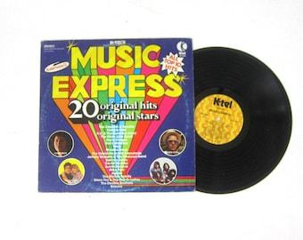 K-Tel's Music Express Original Hits Vinyl Record Album 12 Inch LP Vintage Record Album