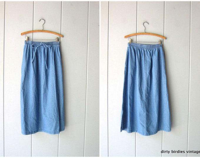 Minimal Denim Skirt