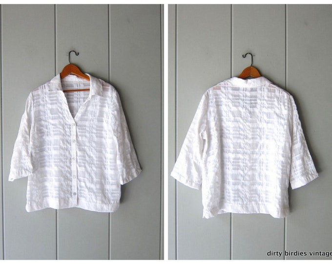 Sheer Grid Shirt