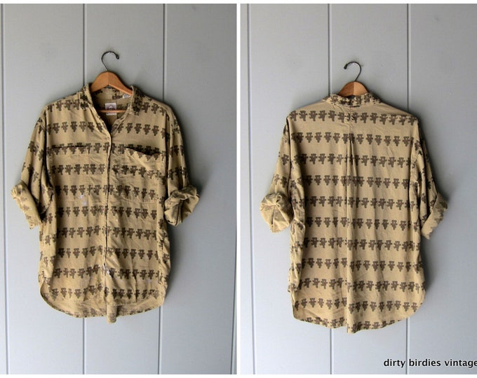 Distressed Bear Print Shirt