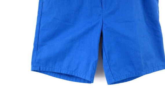 Vintage Blue 1980's Shorts Retro Elastic Waist Sh… - image 3