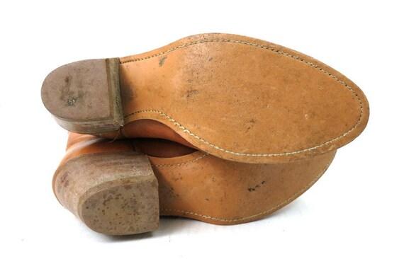 1980s Vintage Tan Leather Look Boots DINGO ACME C… - image 6