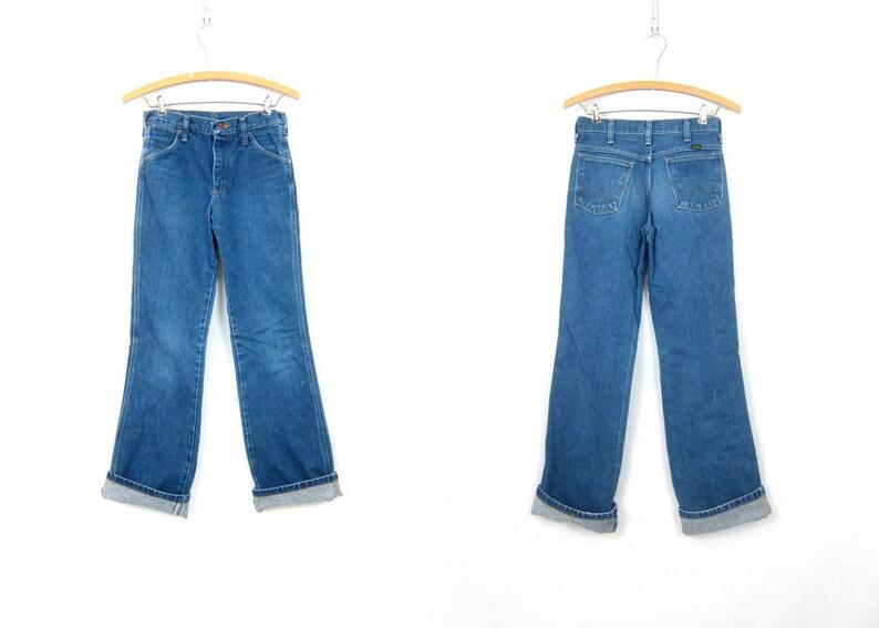 d587ab20 1980s Distressed Blue Jeans Wrangler Bootcut Boyfriend Jeans | Etsy