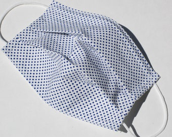 Polka Dot Designer Cotton Fabric Three Layers Washable with Nosewire