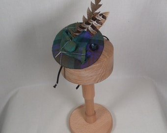 A wee Isle of Skye tartan fascinator (can be made in other tartans)