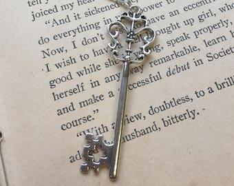 The Mindy Necklace - Large Skeleton Key Necklace
