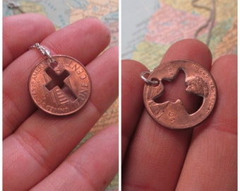 The Ruth Necklace - Cross or Angel Cut Out Penny Necklace