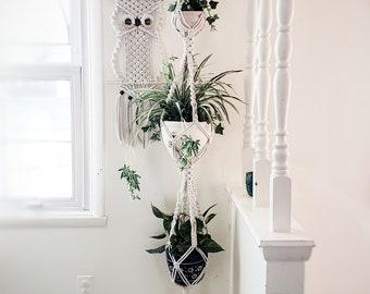 Triple Plant Hanger Etsy
