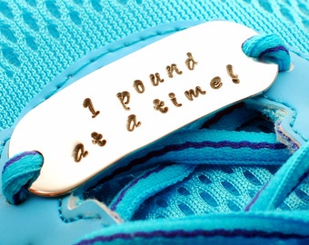 Weight Loss Motivation, 1 pound at a time shoe tag, Weightloss Motivation, Diet Motivator