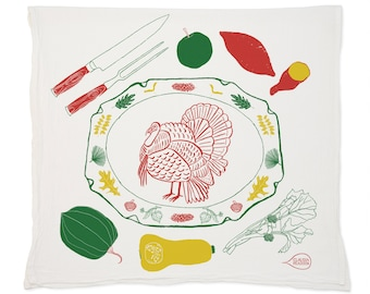 Happy Holidays (Thanksgiving) Tea Towel