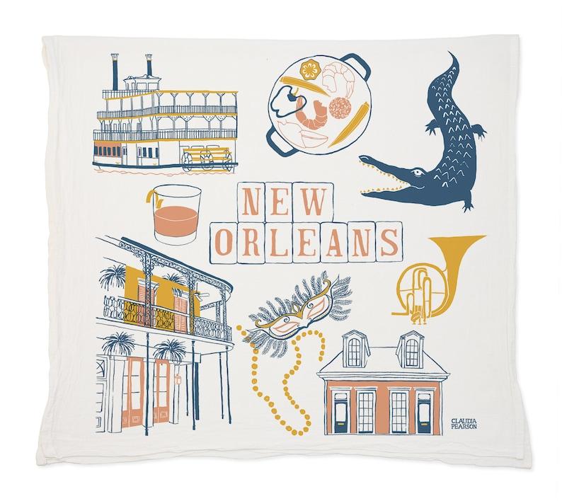 New Orleans Tea Towel