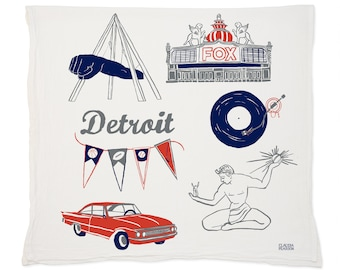 Detroit Tea Towel