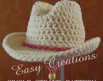 Crochet Cowboy Hat Etsy