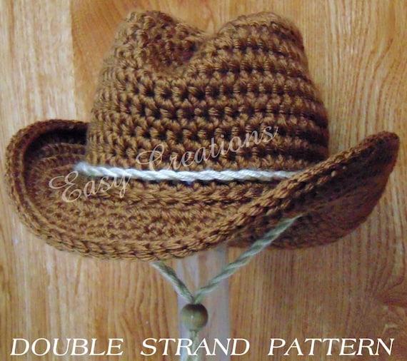 Double Strand Baby Cowboy Cowgirl Hat Boy Girl Crochet Etsy