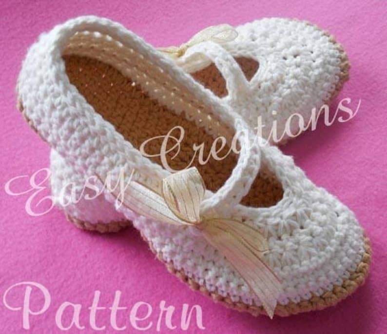 Crochet Pattern Mary Jane Slippers Adult Teen Star Etsy