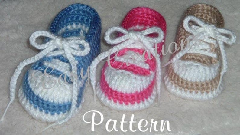 Crochet Pattern Baby Tennis Shoes Baseball Sneakers Converse Etsy