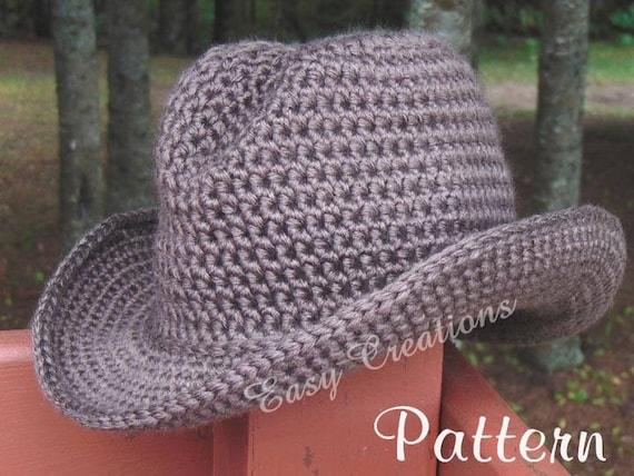 Crochet Pattern Double Strand Cowboy Cowgirl Hat Cap Etsy
