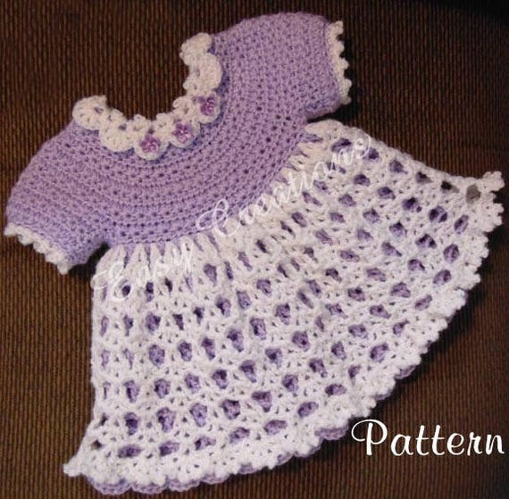 10f188f3fce PDF CROCHET PATTERN Star Stitch Baby Dress 0 to 6 months