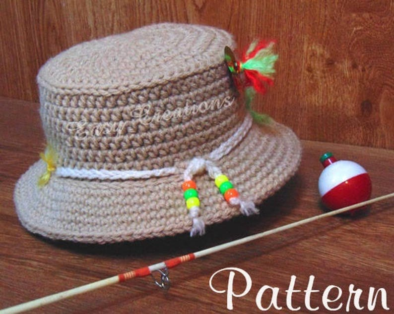 ef78a9dbabf CROCHET PATTERN Baby Fishing Hat Bucket boy boys girl