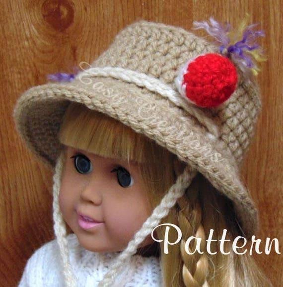 Crochet Pattern 18in Doll Bucket Fishing Hat Brimmed Etsy