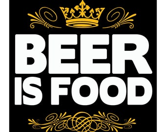 Beer is Food 4x4 Vinyl Sticker