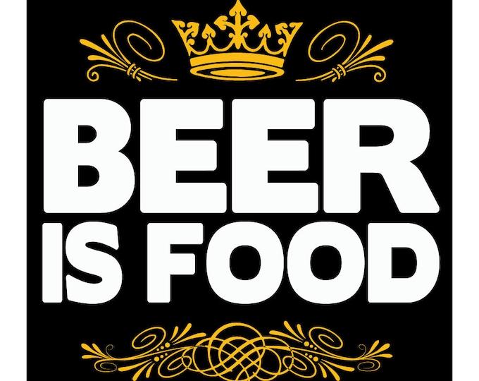 Beer is Food 4x4 Vinyl Sticker