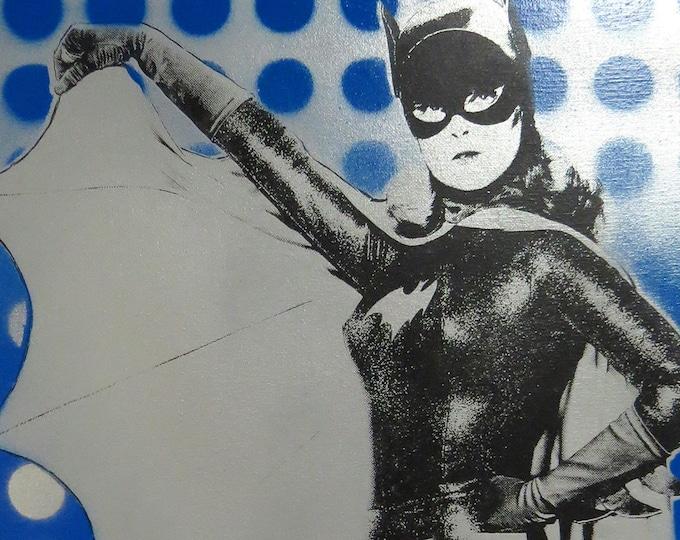Batgirl Yvonne Craig 16x20 Screenprinted Canvas