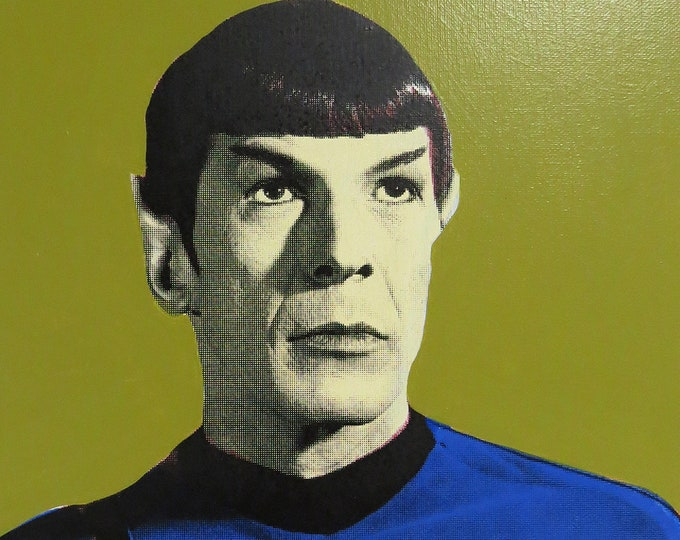 Mr Spock 12x16 Screenprinted Canvas