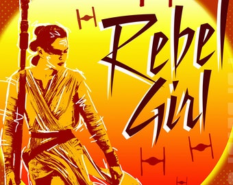 Star Wars Rey Rebel Girl 8x10 Digital Print