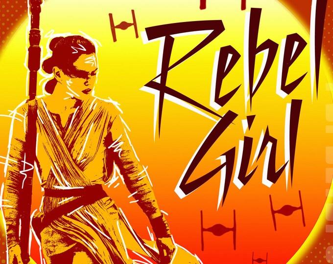 Star Wars Rey Rebel Girl 8x10 Digital Print
