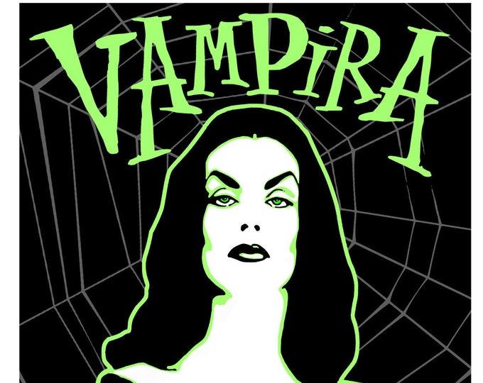 Vampira , the Mistress of the NIght Digital Print