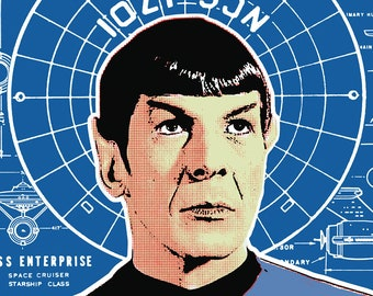 Mr Spock Pop Art 11x14 Print
