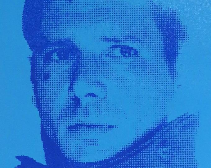 Blade Runner Deckard 8x10 Screenprinted Wood Panel