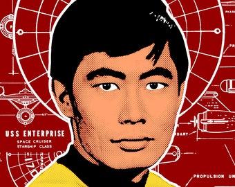 Star Trek Pop Art Sulu Digital Print