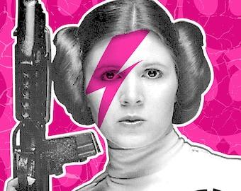 Princess Leia Rebel Rebel Digital Print