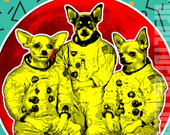 Chi-Chi's in Space Digital Print