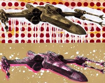 X-Wing Pop Art 11x15 Digital Print