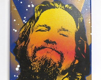 The Big Lebowski 8x10 Screenprinted Canvas