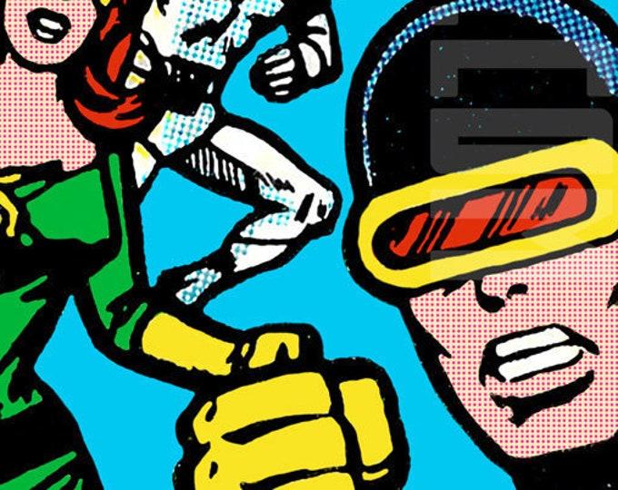 Marvel Comics Silver Age X-Men Cornerbox Digital Print