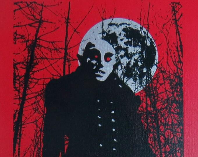 Nosferatu 10x20 Screenprinted Wall Art