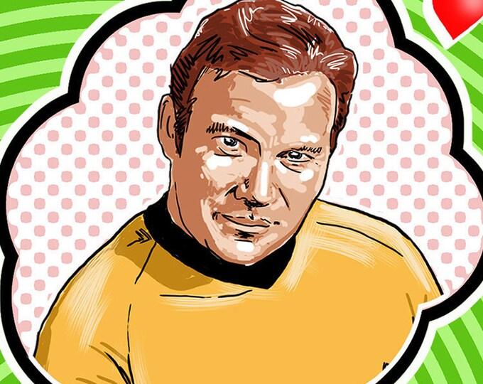 Gorn Loves Kirk Card
