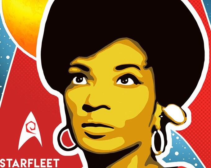 Uhura Star Trek Digital Print